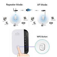 300Mbps 802.11 Repetidor Wi-Fi Alcance inalámbrico AP Amplificador señal NUEVO