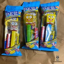 3 Spongebob Pez Bubbles, Yellow Crystal, & Glitter Mint 2020 In Hand