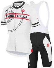 Completo ciclismo/Cycling Jersey and pants  Team Castelli white