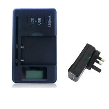 Universal LCD Display AC Wall Main USB Battery Charger for Various Cell Phones E