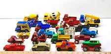 24 Vintage Toy Truck Mixed Lot Marx+Tonka+Buddy L Construction+Pickups+Ready Mix