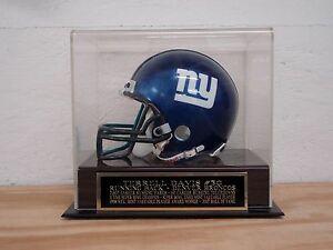 Terrell Davis Football Mini Helmet Display Case With A Denver Broncos Nameplate