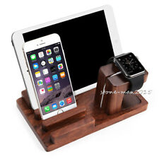 Rosewood Charging Dock Station Stand Holder For Apple Watch iPhone 8 i Pad 2 3 4