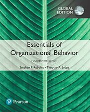 Essentials of Organizational Behavior 14E by Timothy A. Judge (Global edition)