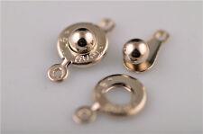 20Set Nickle Charms Metal Necklace Bracelet Connectors Fastener Clasps 17x10mm