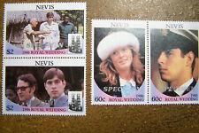 Nevis 1986 #498ab & 499ab Royal Wedding MNH Mint Set of 4 Stamps SPECIMEN