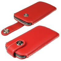 Red Leather Pouch Case for Samsung Galaxy Nexus i9250 Android Cover Holder