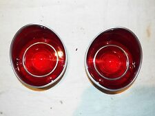 1971 71 Chevelle Malibu SS Rear New Pair Tail Lamp Light Lens Stainless W/Trim