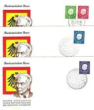 Briefmarken-Ersttagsbriefe aus der BRD für Post, Kommunikation