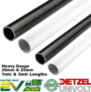 Univolt PVC Round Conduit Heavy Gauge 20MM & 25MM 1MT/3MT Lengths Black & White