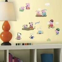 RoomMates Peppa Pig 28 pcs Peel and Stick Wall Decals 24766