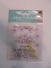 JOLEES BOUTIQUE VIOLET jeweled FLOWERS SCRAPBOOK STICKERS