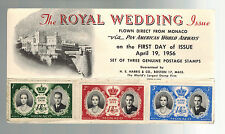 1956 Monaco Royal Wedding first day cover Pan American Airways Postcard