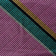 "Bow Tie Men. 100% Silk. PINK TEAL GOLD Stripes SELF TIE Bowtie. 2.5"" Wide"