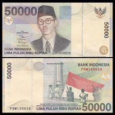 Indonesia 50000 50,000 Rupiah, 1999/2002, P-139, UNC