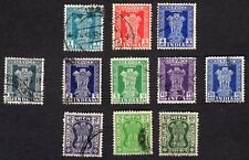 """India: Selection of Official """"SERVICE"""" stamps; Asokan Capital; fine used"""