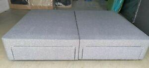 Hypnos POCKET 4 Drawer Base & EMILY IN TWEED GREY 150x200 KING 5FT RRP £2370
