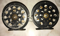 2 Original Vintage Pflueger Sal-Trout 1554 Fly Fishing Reels With Line