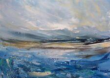Semi Abstract Seascape / Landscape Art. Original Acrylic Painting.