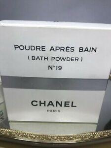 Chanel No 19 bath powder 300 g. Rare vintage 1970s. Sealed (new).