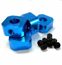 L11494LB 1/5 Scale 17mm x 9.5mm Drive Square Wheel Hub Alloy Light Blue x 4