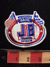 JB JUSTICE BROTHERS Car / Auto Jacket Patch USA & Checkered Flag Racing 75Y8