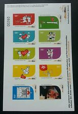 Germany Privatepost Maximail Cartoons 2010 Love Heart Balloon (sheetlet) MNH