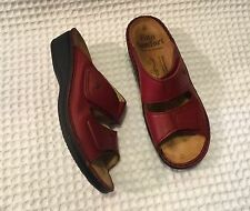 FINN COMFORT Jamaica Two Strap Sandals Shoes $215 Red 38 D / 7.5 - 8