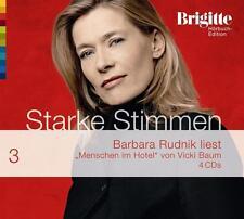 """4 CDs -  """"Menschen im Hotel"""" - Starke Stimmen - gelesen von Barbara Rudnik"""