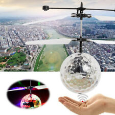 RC Flying Heli Ball Drone Led Flashing Light Krystal Aircraft Helicopter Toy Kid