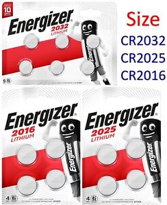 ENERGIZER CR2032 | 2025 | 2016 | Battery Coin Cell Button 3v Lithium Long expiry