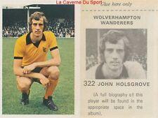 322 HOLSGROVE WOLVERHAMPTON WANDERERS STICKER WONDERFUL WORLD OF SOCCER 1972