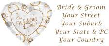 48 LARGE PERSONALISED WEDDING INVITATION RETURN ADDRESS LABEL STICKERS HEART