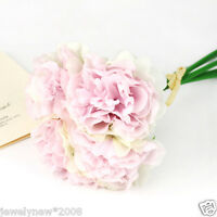 15-Flower Rose Flower Bouquet Handmade Silk Home Bridal Party Wedding Decoration