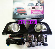 SPOT LIGHTS FOG LAMPS For FORD ECOSPORT SUV 2013 2014 WITH CHROME RING