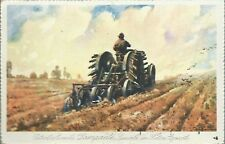 Nafta - Petrolio Aureola Lampante - Viaggiata 1925 Trattore Pubblicitaria