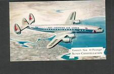 unmailed post card Eastern Airlines new 88 passenger Super Constellation