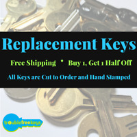 Replacement HON Furniture Key - Series L001 - L012 - Buy 1, Get one 50% off