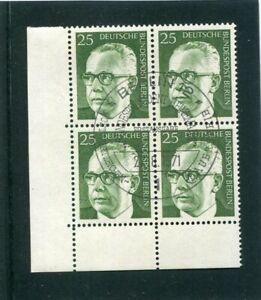 Berlin, Heinemann, Mi.-Nr. 393, Eckrandviererblock, 4er Ecke, ESST Berlin