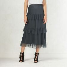 Lauren Conrad Nine Iron Decadence Formal Layered Tulle Tiered Skirt Sz XS NWT