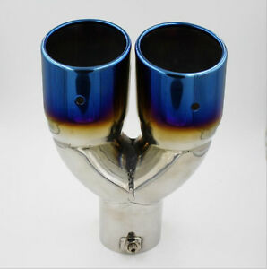 63mm Chrome Colorful Stainless Steel Car Rear Dual Exhaust Pipe Tail Muffler Tip