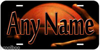 Basketball Any Name Personalized Aluminum Tag Novelty Car License Plate