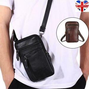 Men Multi-function Leather Shoulder Messenger Bag Handbag Belt Casual Leisure UK