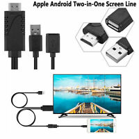 Cable adaptador USB a HDMI HDTV macho para iPhone8 / 7 / 7plus / 6s / 6 plus