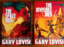 LOT OF 2: INVISIBLE MEN & SPACE MEN by Gary Lovisi, new US pulp sci-fi trade pb