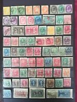 CANADA 1868-1946 UNCHECKED 71 STAMPS