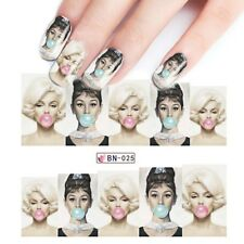 Merylin Chewing Gum Princess STICKERS  Nail Art Sexy Lady Designs nails  Bn-025