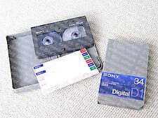 MAKE OFFER - Sony D1M-34A, D1 digital video cassette, LOT OF 2, NEW