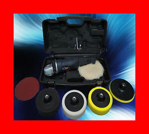 Gold Car Polisher Buffer Machine Valeting Wax Waxing Sander Pro With 6 Heads