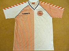 Denmark Football Shirt Adults M 1986 Hummel Away Soccer Jersey Camesita Trikot
